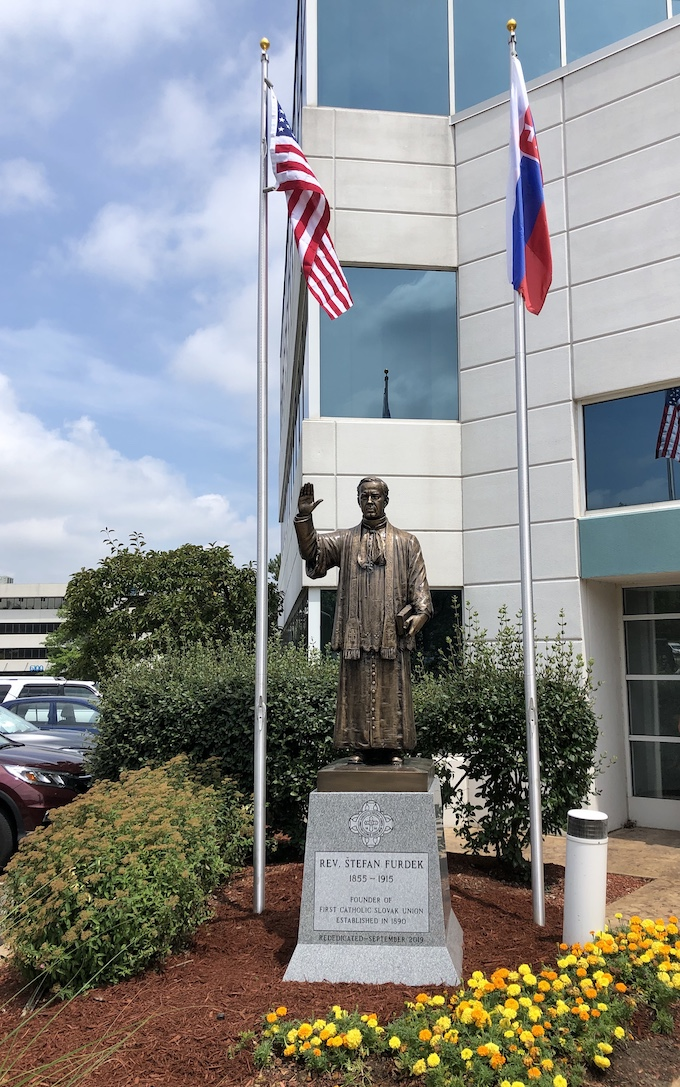 First Catholic Slovak Union Statue Reverend Furdek in Independence, Ohio